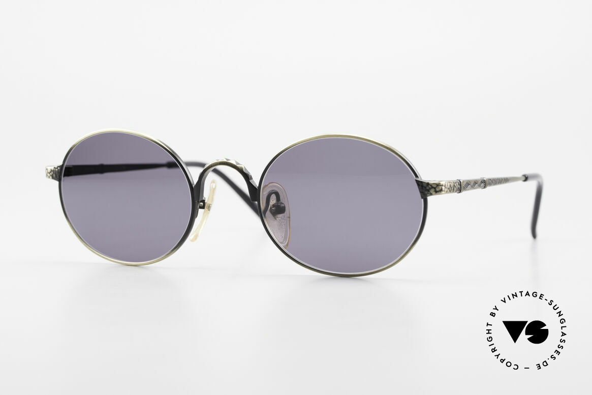 Jean Paul Gaultier 55-9672 Ovale 90er JPG Sonnenbrille, ovale Jean Paul GAULTIER Designer-Sonnenbrille, Passend für Herren und Damen