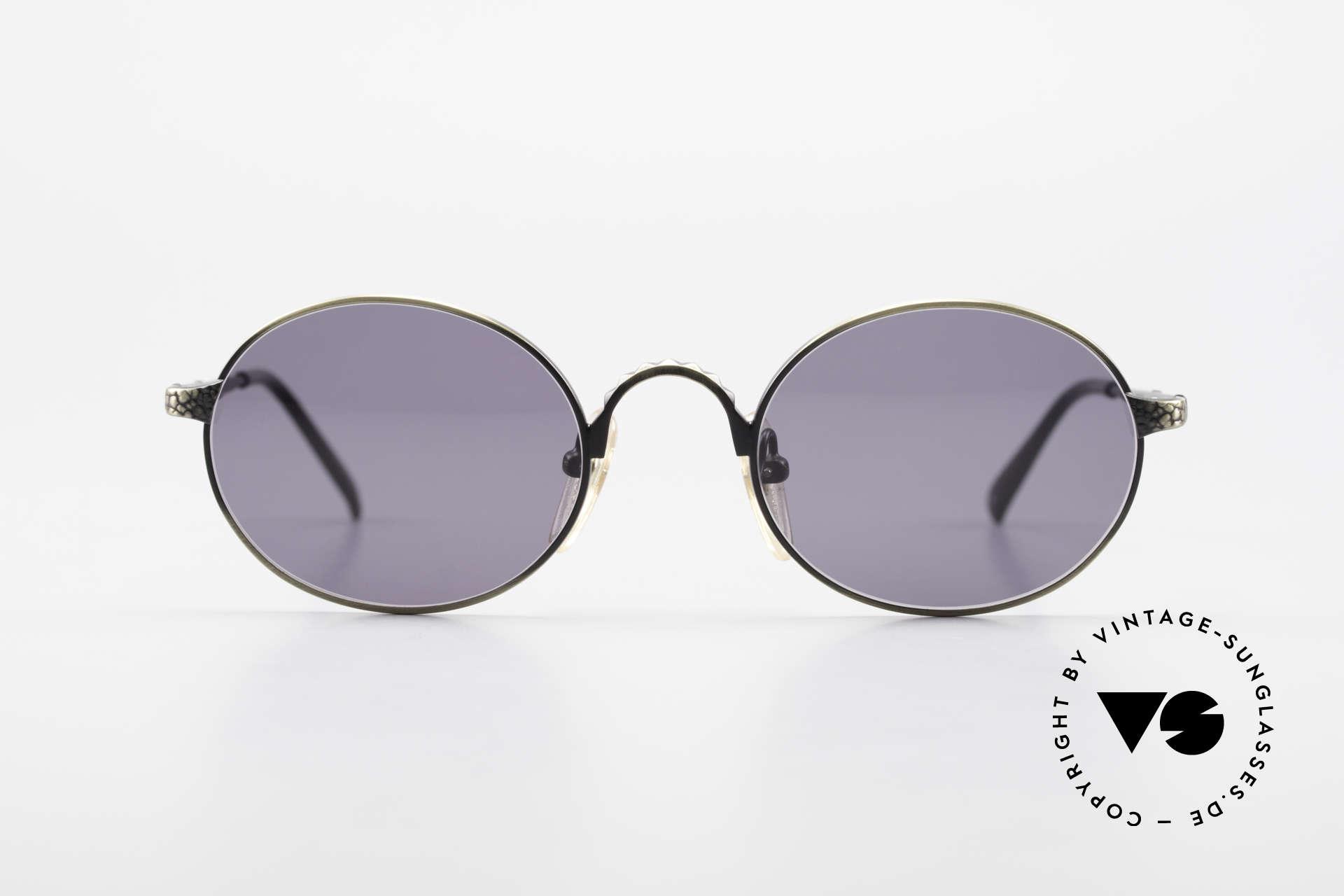 Jean Paul Gaultier 55-9672 Ovale 90er JPG Sonnenbrille, enorm hochwertige Fassung mit kleinen Gravuren, Passend für Herren und Damen