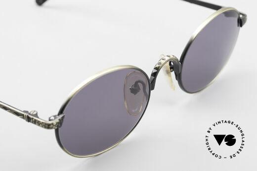 Jean Paul Gaultier 55-9672 Ovale 90er JPG Sonnenbrille, der Rahmen kann ggf. auch optisch verglast werden, Passend für Herren und Damen