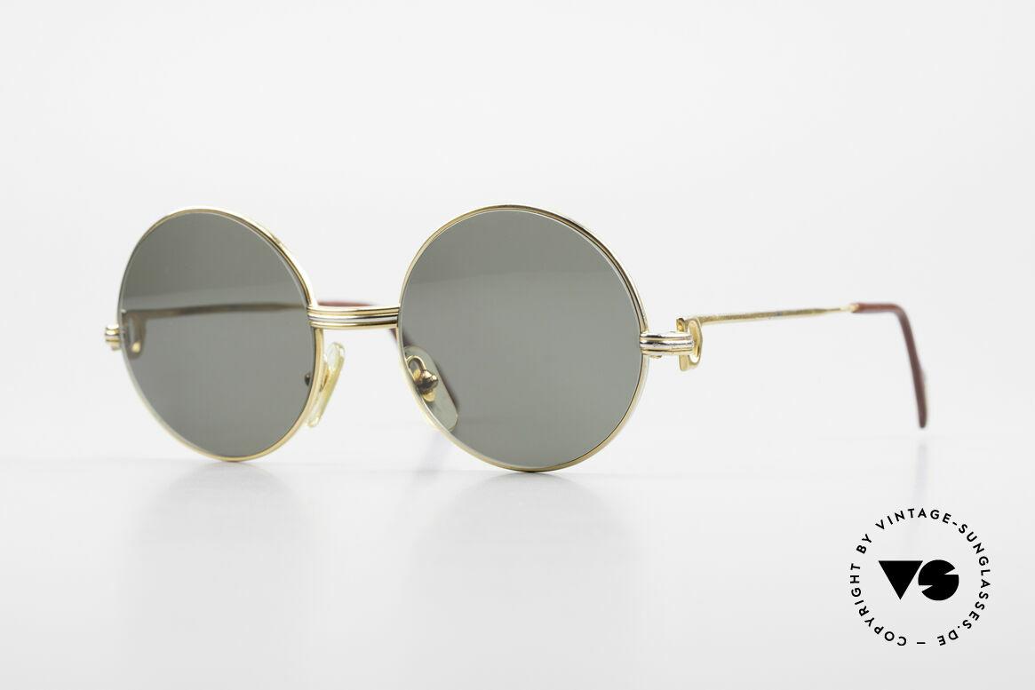Cartier Round Customized Kundenindividuelle Fertigung, einmalige runde CARTIER Sonnenbrille, Passend für Herren und Damen