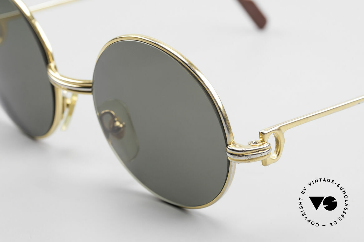 Cartier Round Customized Kundenindividuelle Fertigung, eine kleine Größe (122mm Rahmenbreite), Passend für Herren und Damen