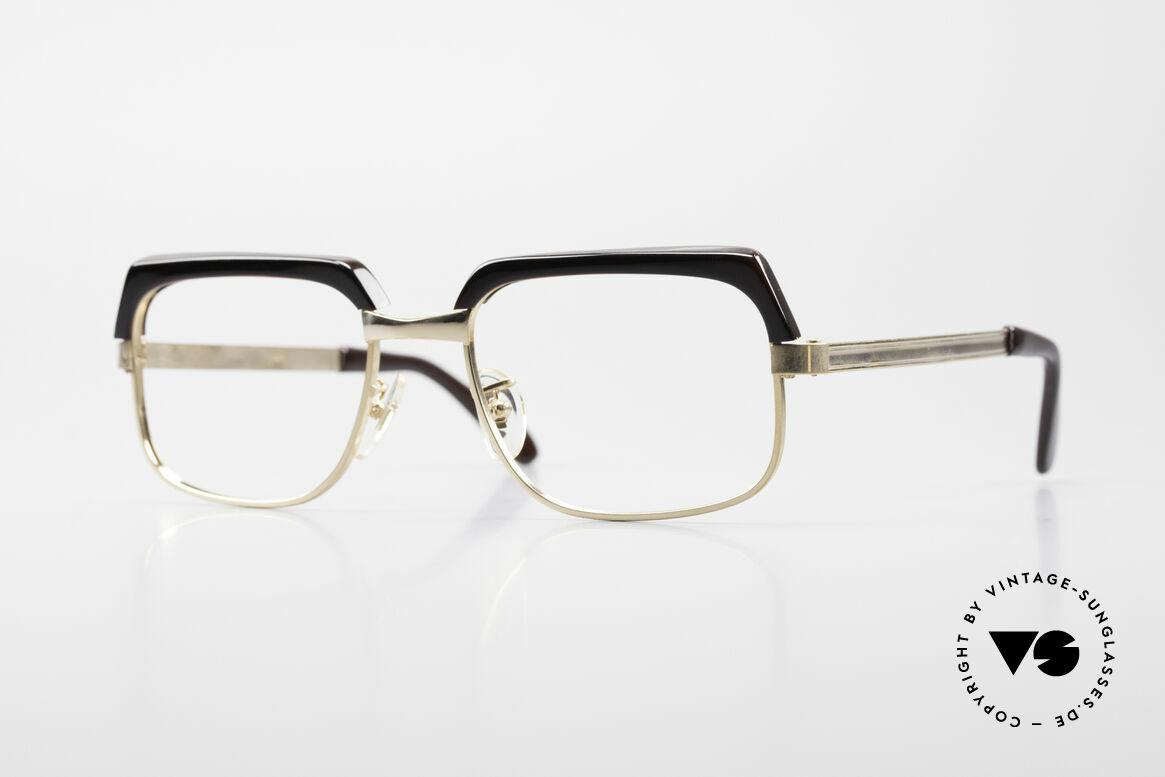 Selecta - Dalai Lama Gold Filled Kombibrille 70er, antike Kombi-Brille aus den frühen 70er Jahren; Original, Passend für Herren