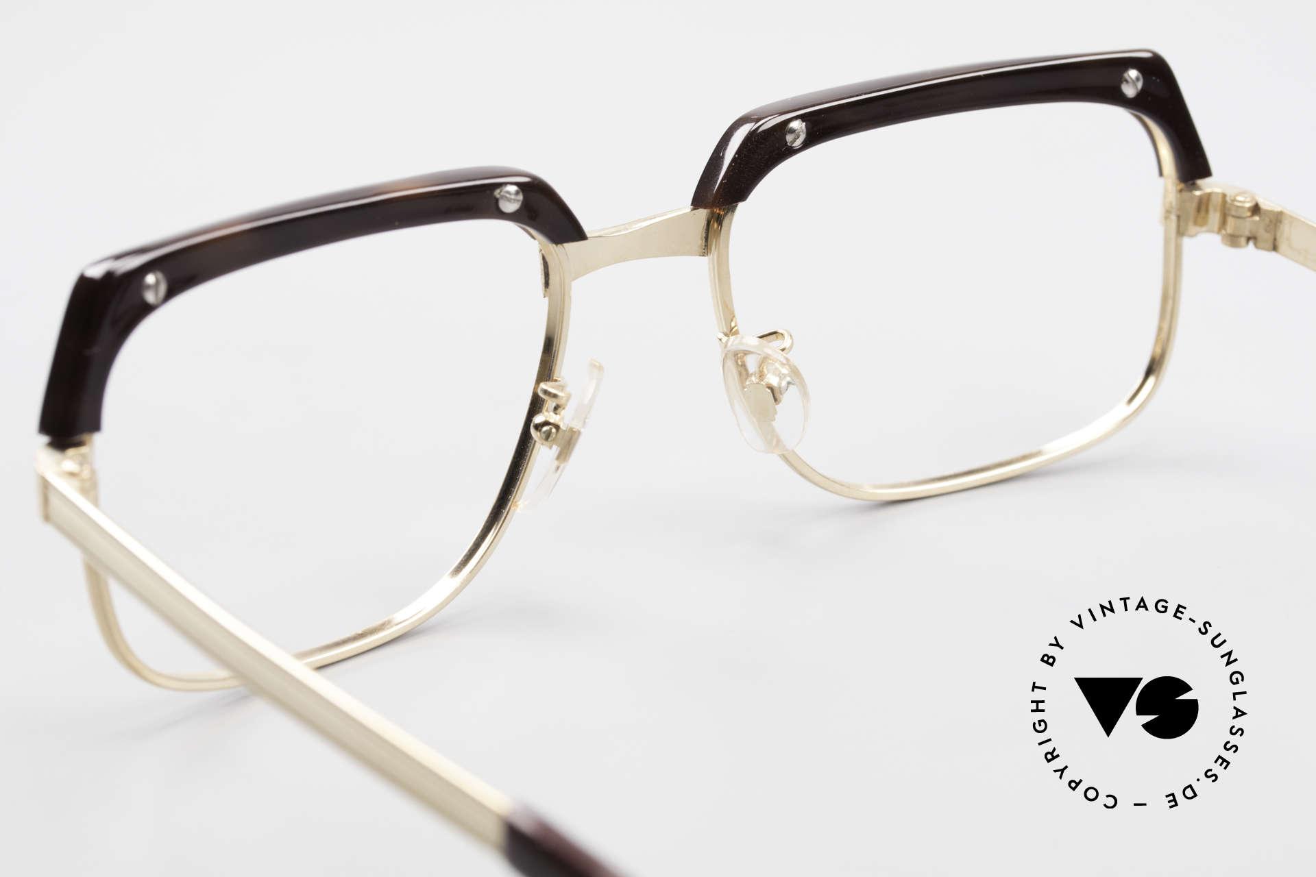 Selecta - Dalai Lama Gold Filled Kombibrille 70er, heutzutage gar nicht mehr zu bekommen; large Gr. 52/22, Passend für Herren