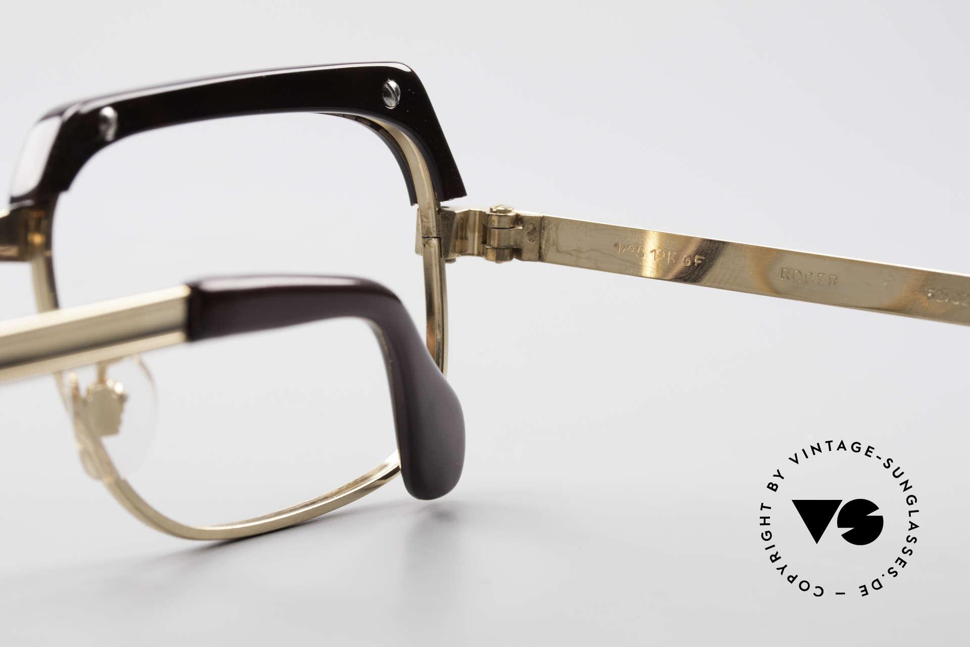 Selecta - Dalai Lama Gold Filled Kombibrille 70er, ungetragene vintage Rarität und KEINE RETRO-BRILLE!, Passend für Herren