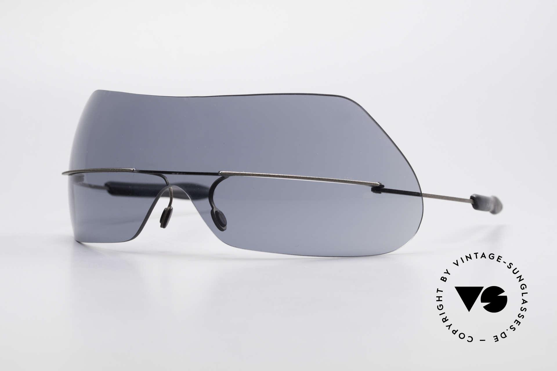 Theo Belgium Satisfashion 138 Sonnenbrille mit Augenbrauen, vintage Brille der Theo SATISFASHION Serie von 2001, Passend für Damen