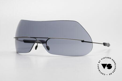 Theo Belgium Satisfashion 138 Sonnenbrille mit Augenbrauen Details