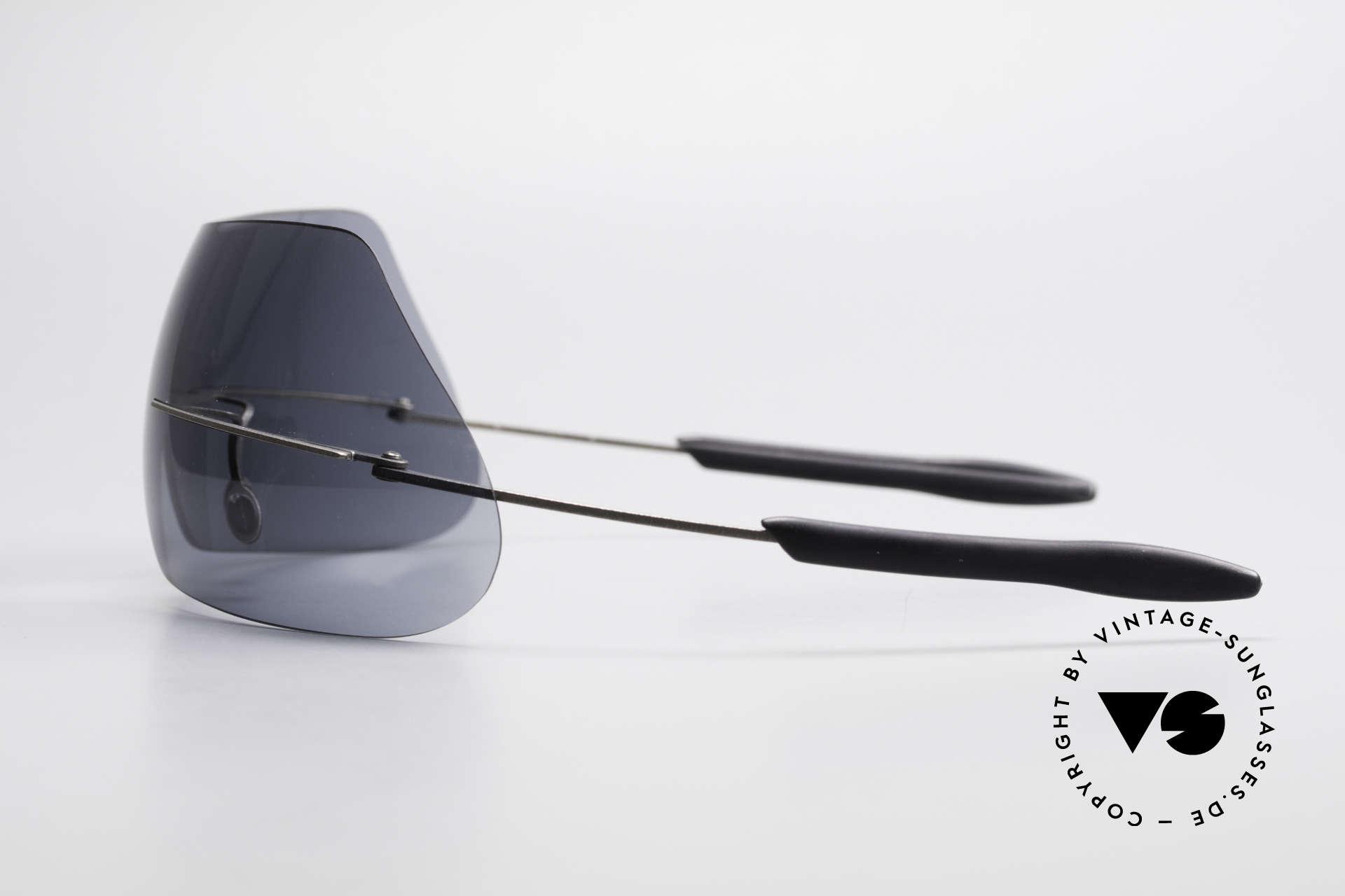Theo Belgium Satisfashion 138 Sonnenbrille mit Augenbrauen, Designer-Sonnenbrille + Kunstobjekt + Museumsstück!, Passend für Damen