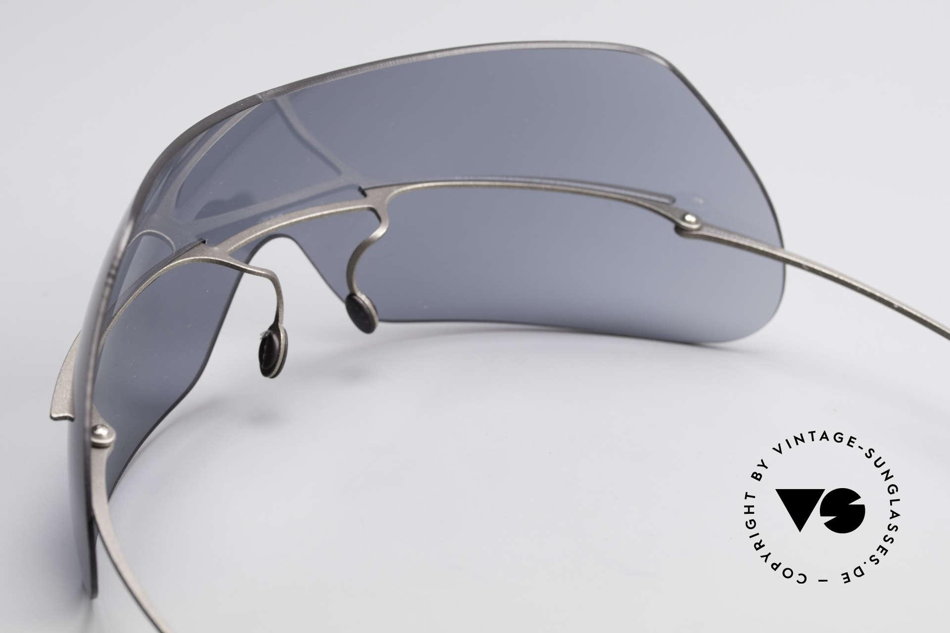 Theo Belgium Satisfashion 138 Sonnenbrille mit Augenbrauen, damals gemacht für die 'Avantgarde' & Individualisten, Passend für Damen