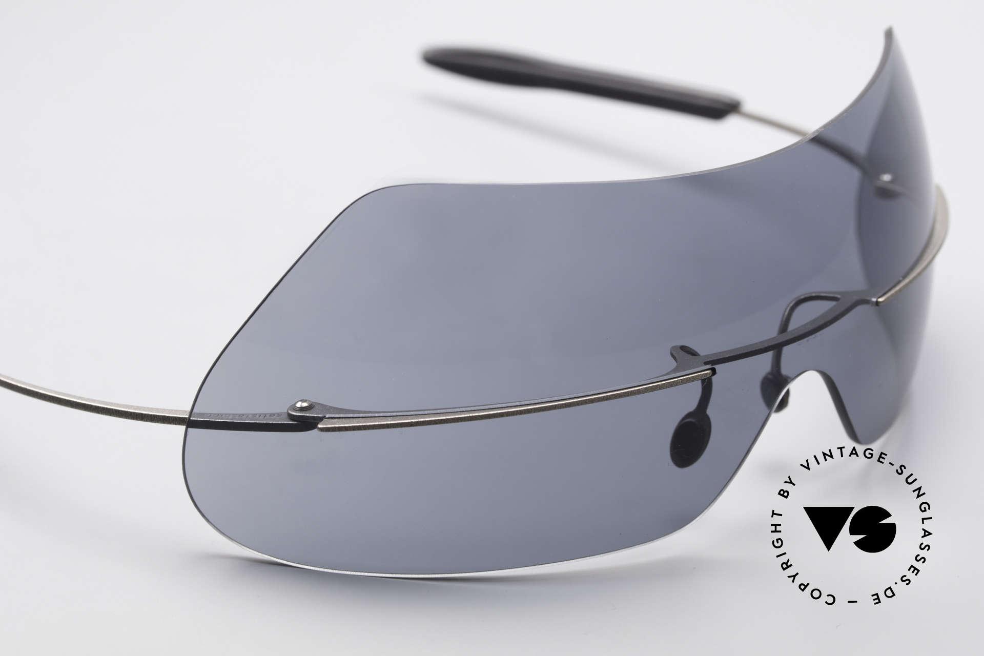 Theo Belgium Satisfashion 138 Sonnenbrille mit Augenbrauen, ungetragenes Theo-Einzelstück für die, die sich trauen, Passend für Damen