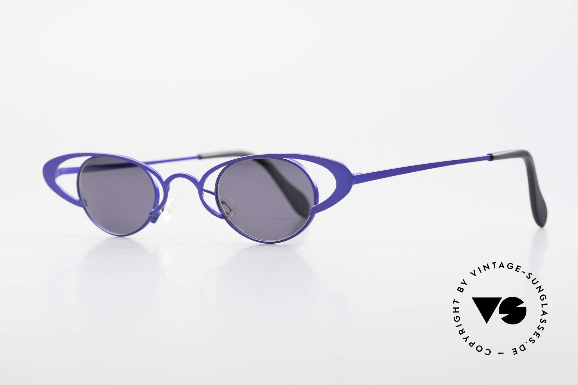 Theo Belgium Venus Zauberhafte Damenbrille 90er, damals gemacht für die 'Avantgarde' und Individualisten, Passend für Damen
