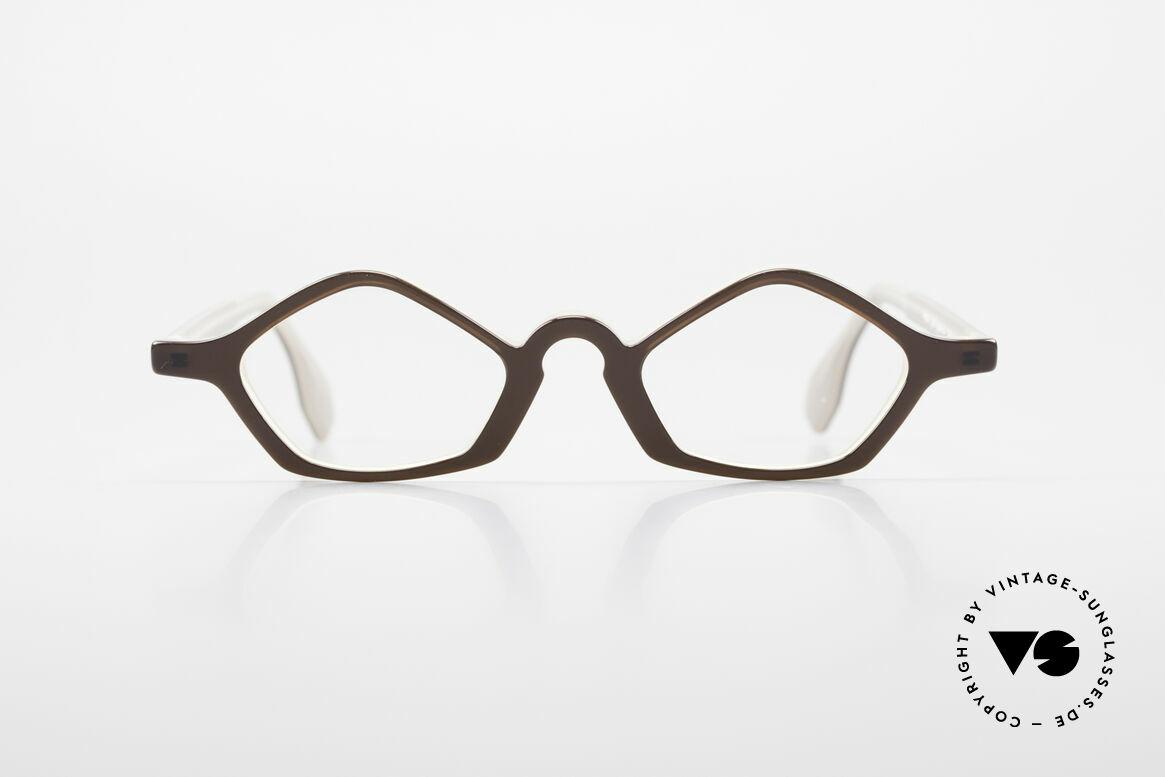 Theo Belgium Polygone Vieleck Brille Aus Kunststoff, 'Theo' bekannt als Gegenpol zum üblich 'Mainstream', Passend für Herren und Damen