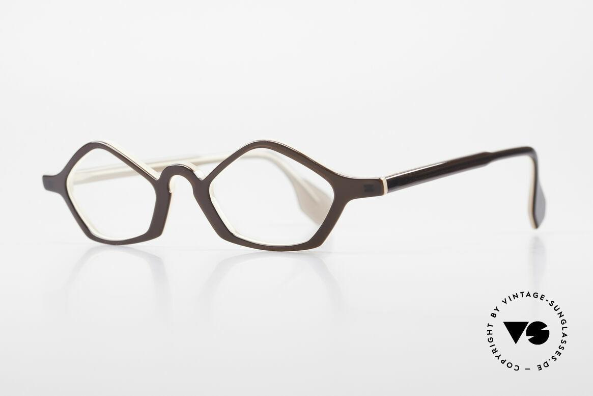 Theo Belgium Polygone Vieleck Brille Aus Kunststoff, gemacht für die 'Avantgarde' und für Individualisten, Passend für Herren und Damen