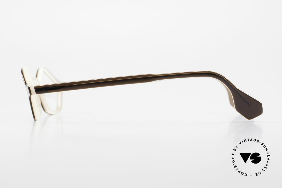 Theo Belgium Polygone Vieleck Brille Aus Kunststoff, geniale (Polygon) Vieleck-Brille; dunkelbraun / mokka, Passend für Herren und Damen