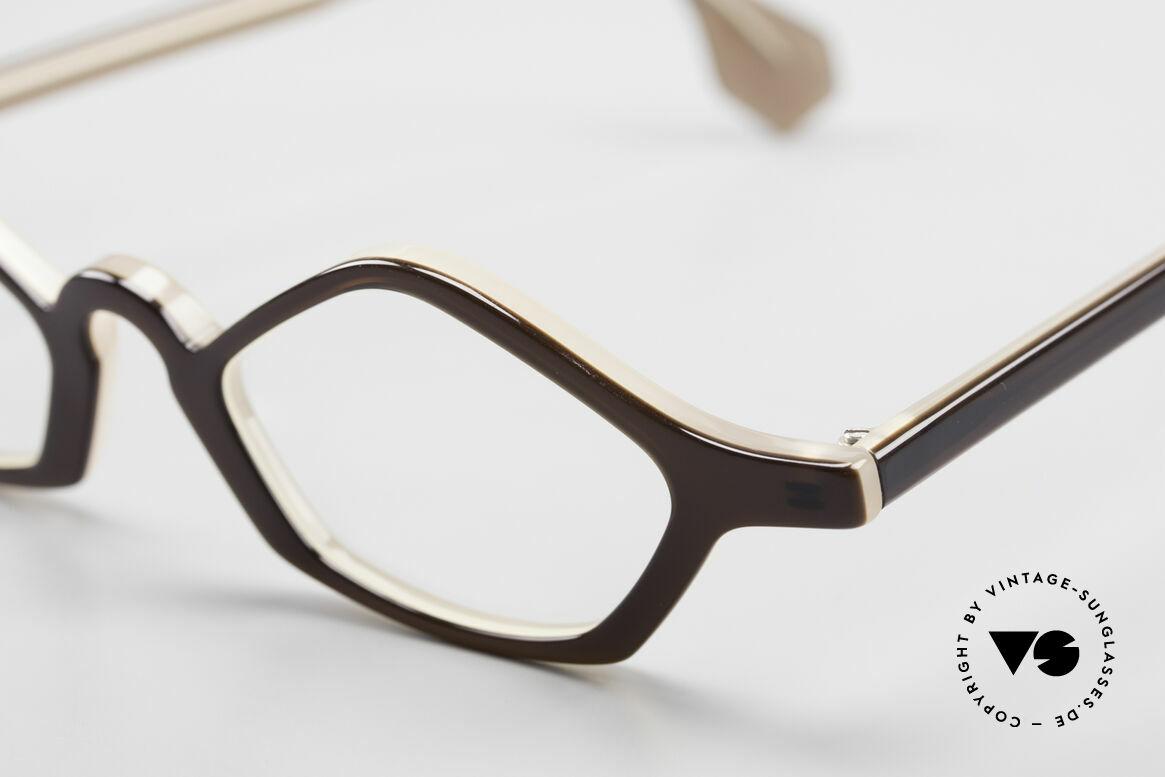 Theo Belgium Polygone Vieleck Brille Aus Kunststoff, ungetragenes Theo-Exemplar für die, die sich trauen, Passend für Herren und Damen