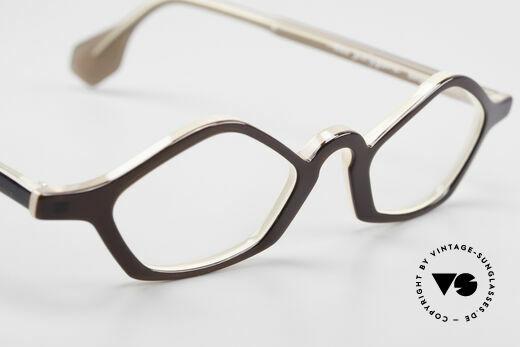Theo Belgium Polygone Vieleck Brille Aus Kunststoff, sozusagen: eine Designer-Brille mit Symbol-Charakter, Passend für Herren und Damen