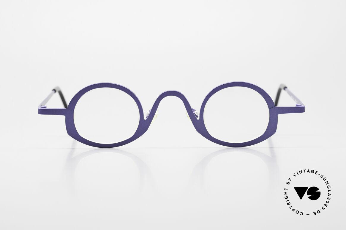 Theo Belgium Circle Trendsetter Vintage Brille, 'Theo' bekannt als Gegenpol zum üblich 'Mainstream', Passend für Herren und Damen