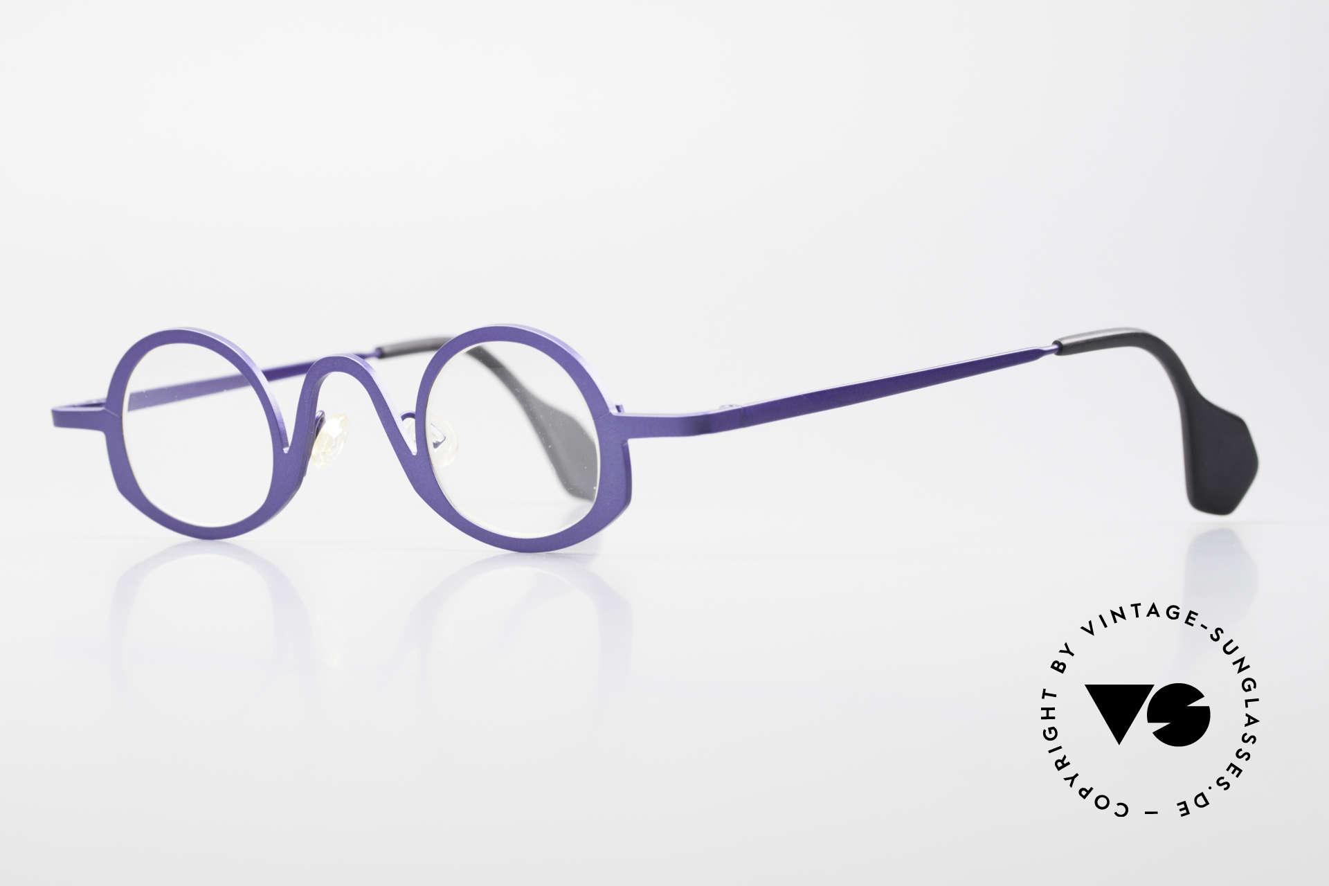 Theo Belgium Circle Trendsetter Vintage Brille, gemacht für die 'Avantgarde' und für Individualisten, Passend für Herren und Damen