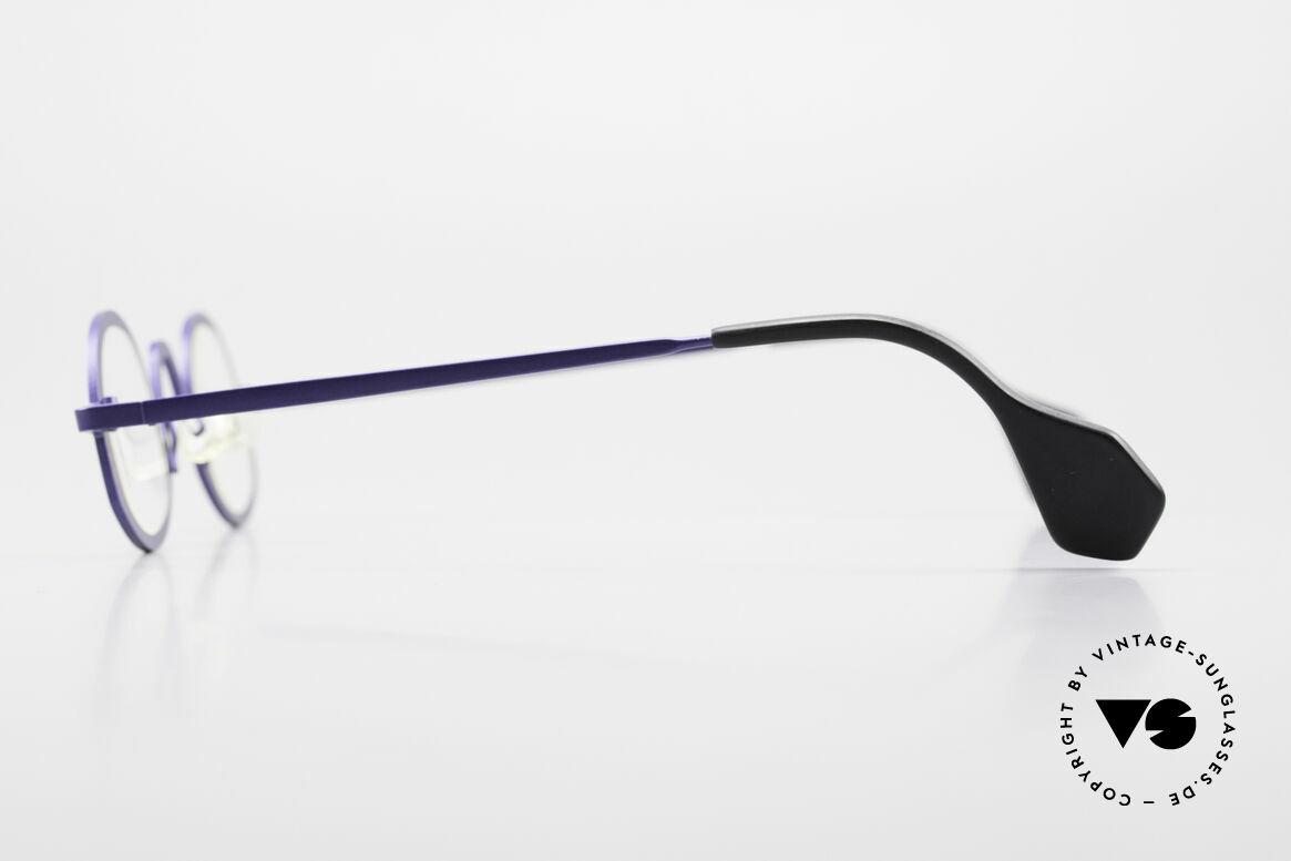 Theo Belgium Circle Trendsetter Vintage Brille, wirklich außergewöhnliche Fassung in Top-Qualität!, Passend für Herren und Damen