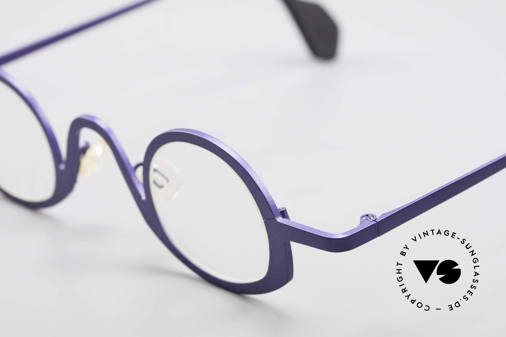 Theo Belgium Circle Trendsetter Vintage Brille, ungetragenes Theo-Exemplar für die, die sich trauen, Passend für Herren und Damen