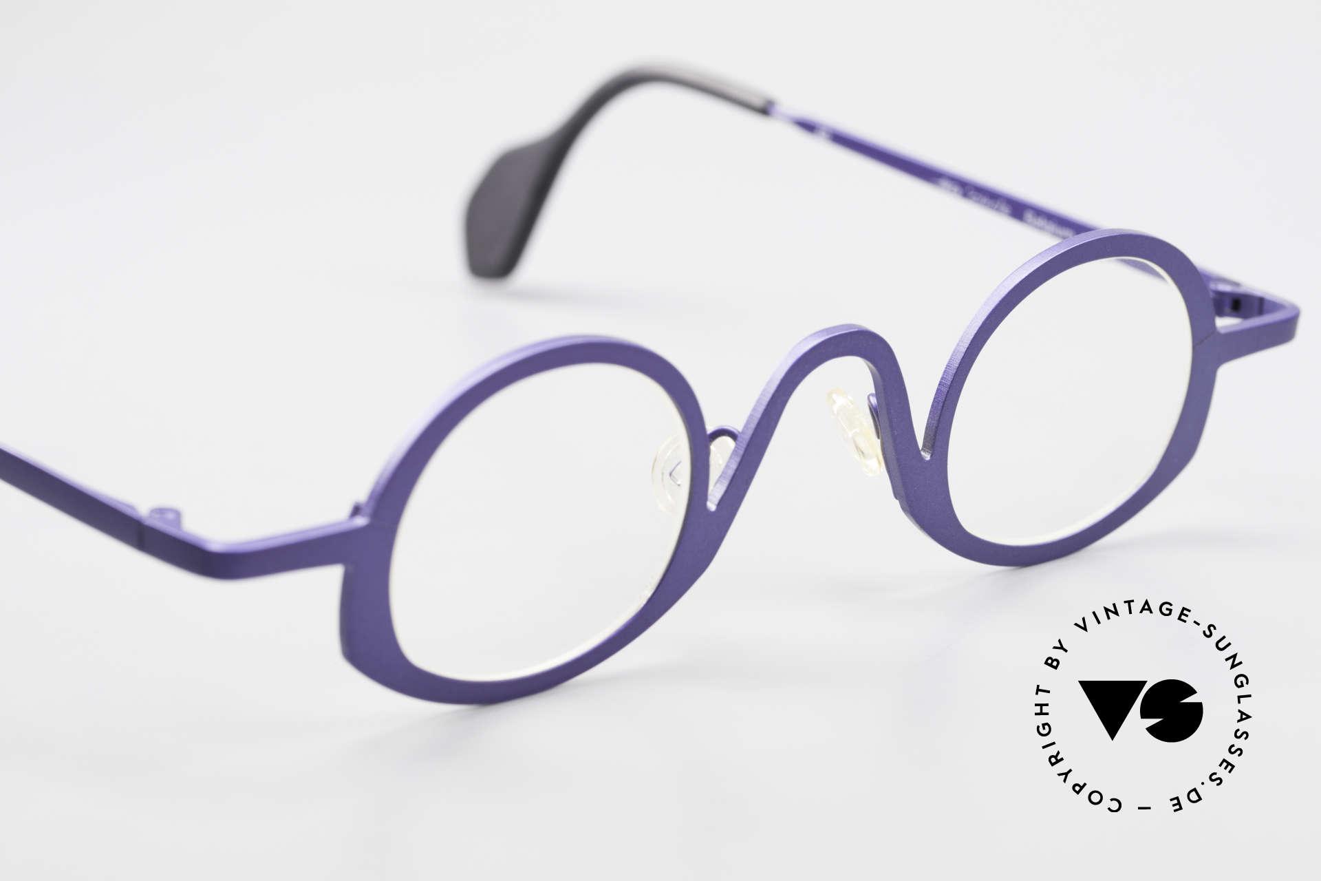Theo Belgium Circle Trendsetter Vintage Brille, sozusagen: eine Designer-Brille mit Symbol-Charakter, Passend für Herren und Damen