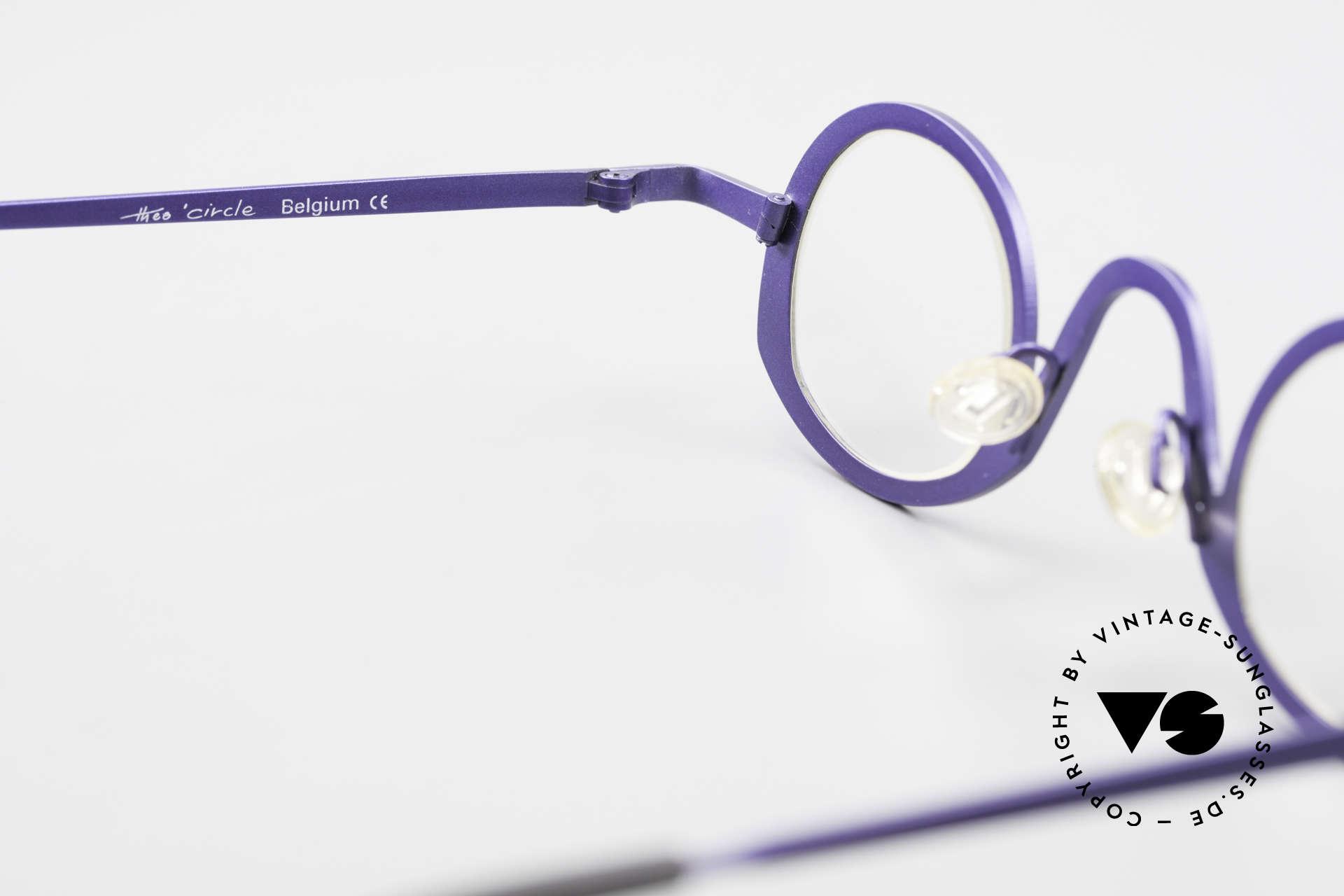 Theo Belgium Circle Trendsetter Vintage Brille, Größe: medium, Passend für Herren und Damen