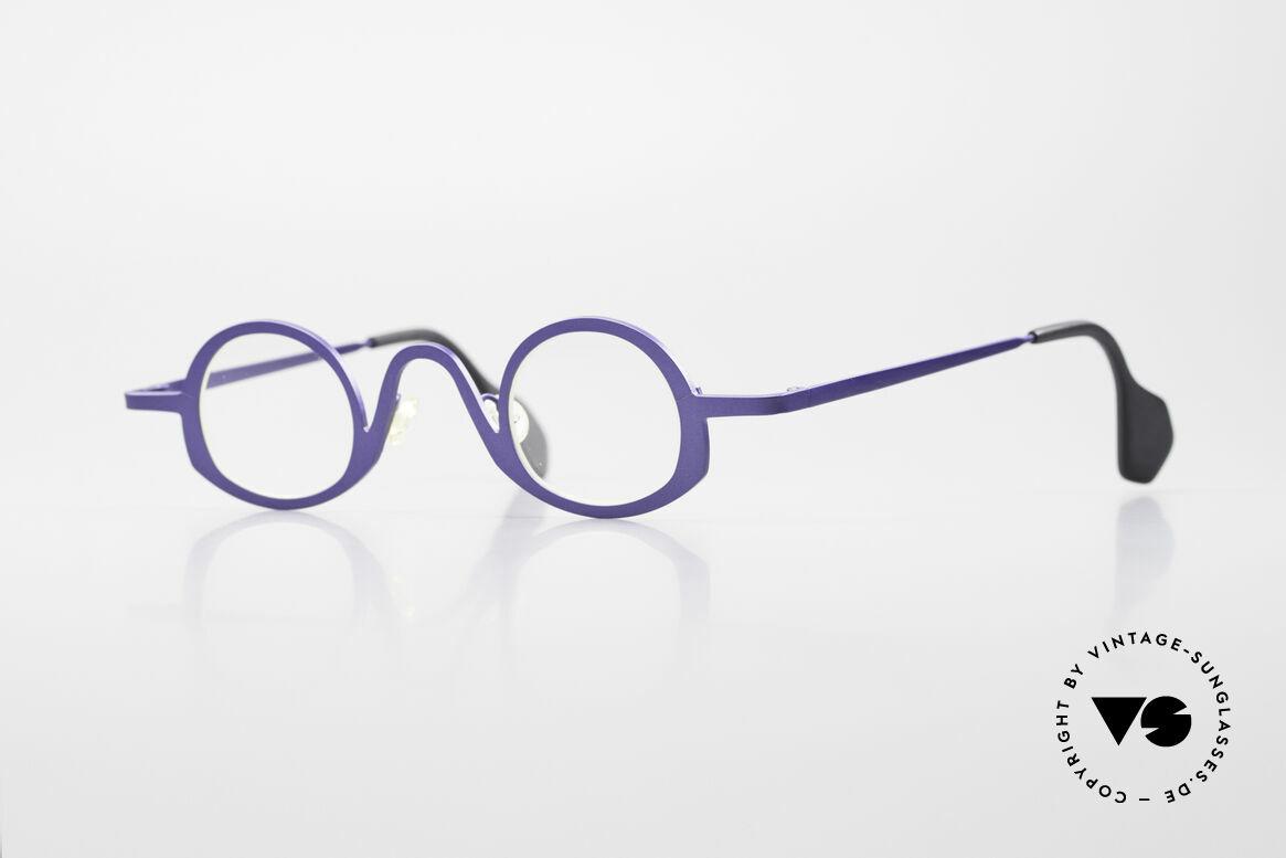 Theo Belgium Circle Trendsetter Vintage Brille, THEO Belgium Brille, Unisex-Modell in dunkel-blau!, Passend für Herren und Damen
