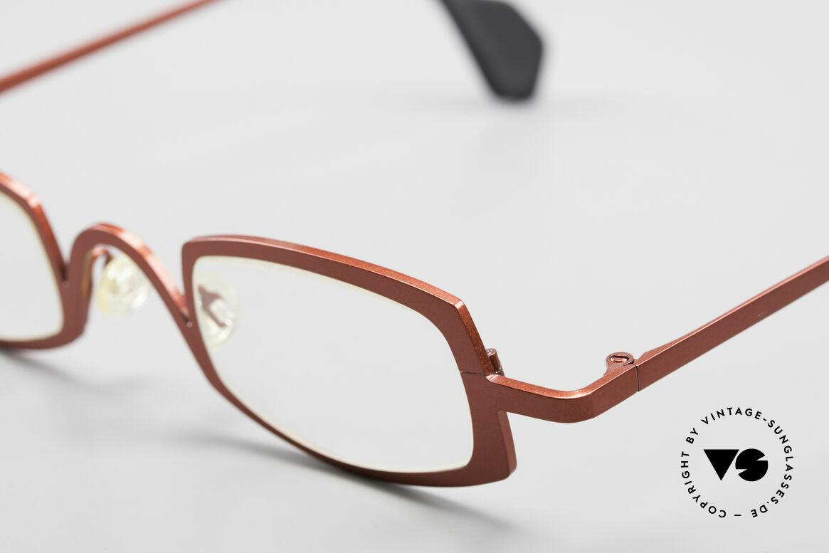 Theo Belgium Rectangle Rote Vintage Brille Damen