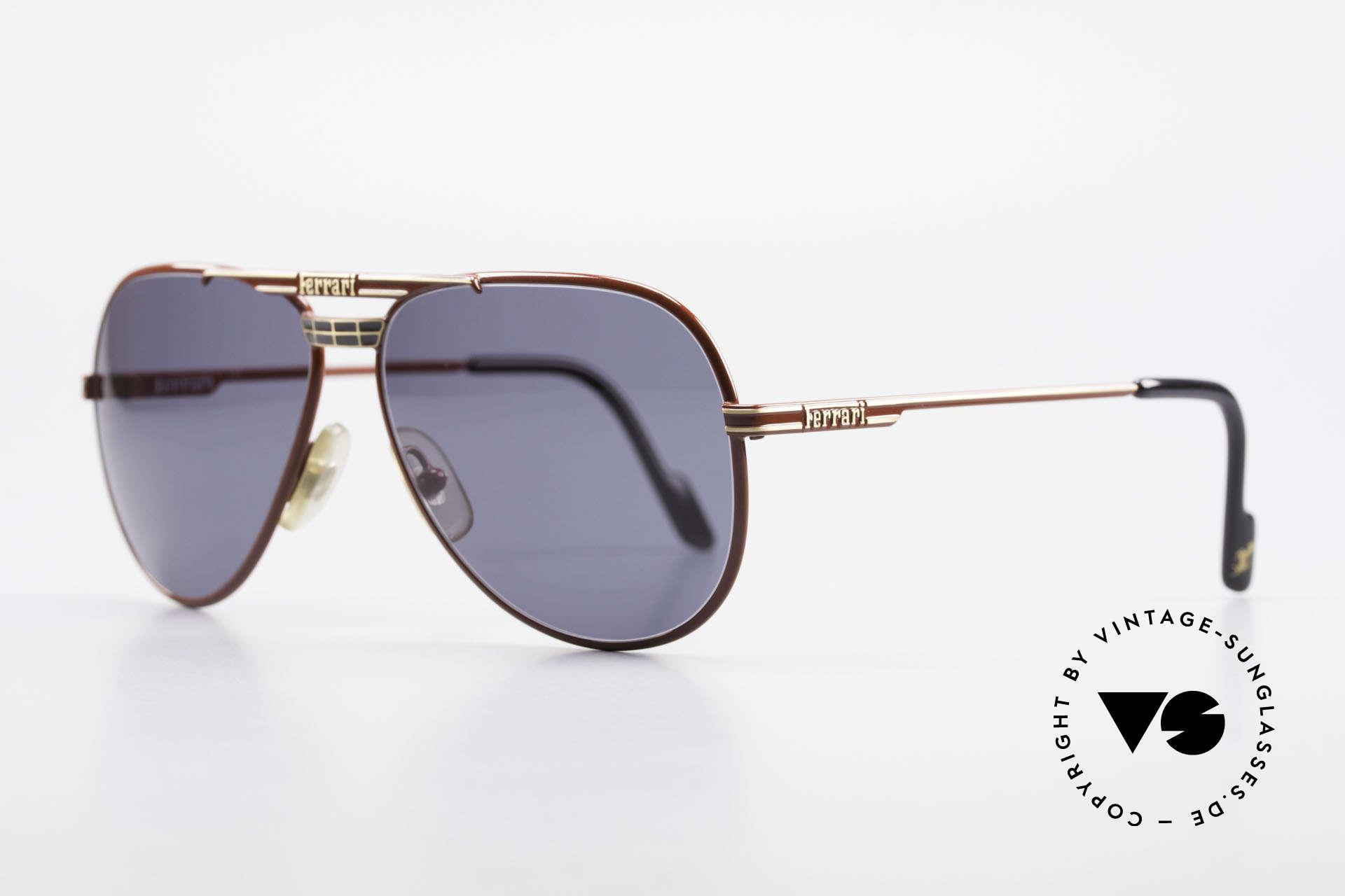 Ferrari F13 Sportliche Aviator Brille 80er, beste Materialien; Top-Verarbeitung; muss man fühlen!, Passend für Herren