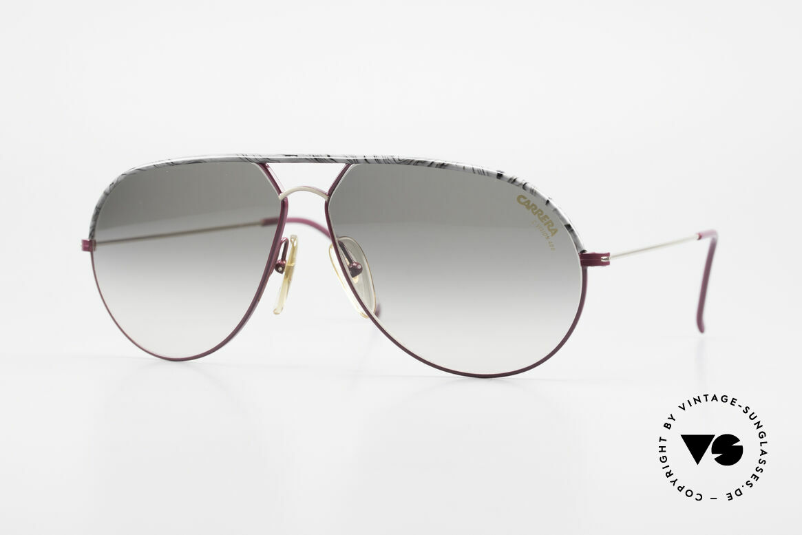 Carrera 5428 Rare Alte Sonnenbrille 80er, klassische Carrera vintage Sonnenbrille der 1980er, Passend für Herren und Damen