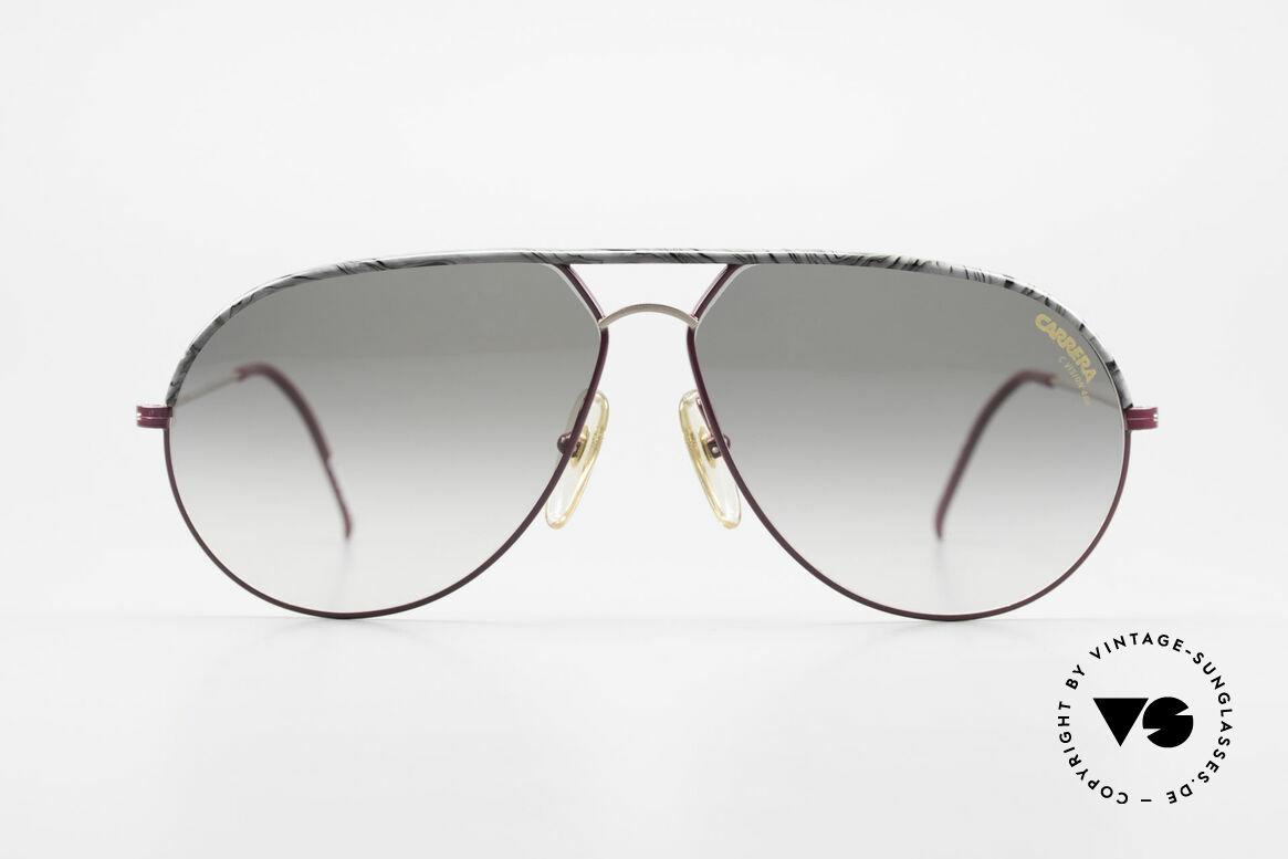 Carrera 5428 Rare Alte Sonnenbrille 80er, Metall-Fassung mit interessanter Farbkombination, Passend für Herren und Damen