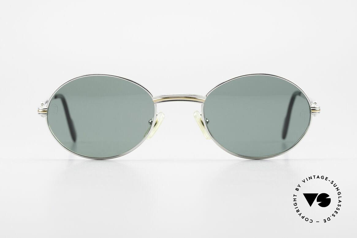 Cartier Saint Honore Ovale Luxus Sonnenbrille 90er, ovale VINTAGE Cartier Sonnenbrille von circa 1998, Passend für Herren
