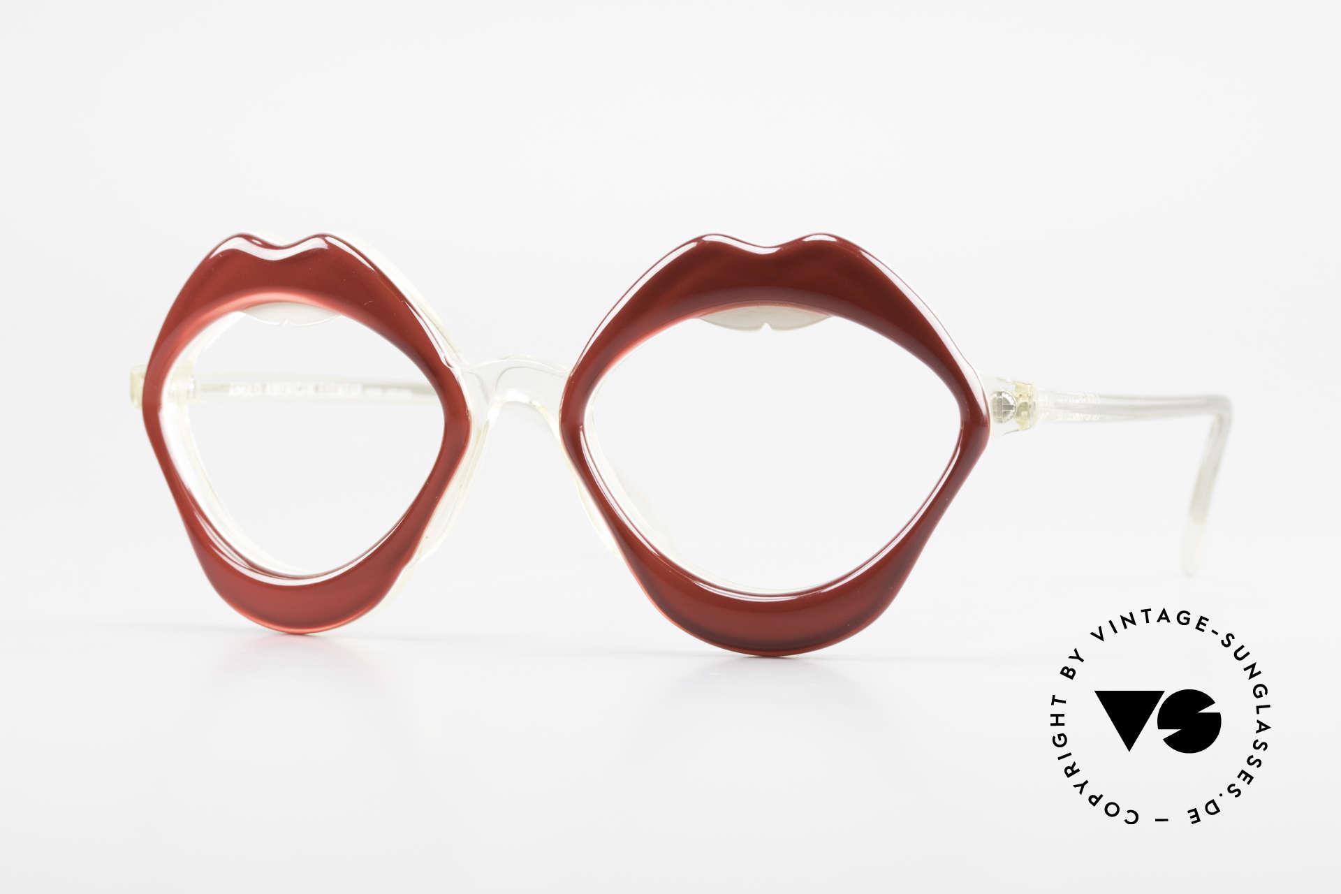 Anglo American Optical LIPS AAO Lippenbrille 60er Original, AAO, Anglo American Optical - model. LIPS (Lippen), Passend für Damen