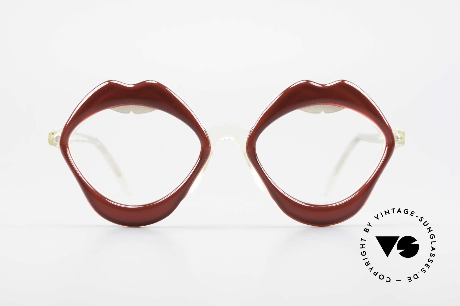 Anglo American Optical LIPS AAO Lippenbrille 60er Original, ein Stück Modegeschichte vom Designer Pierre Marly, Passend für Damen