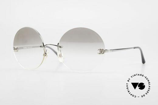 Chanel 4056 Runde Luxus Sonnenbrille 90er Details