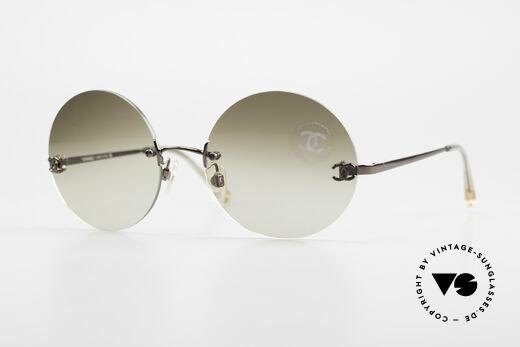 Chanel 4056 Runde 90er Luxus Sonnenbrille Details