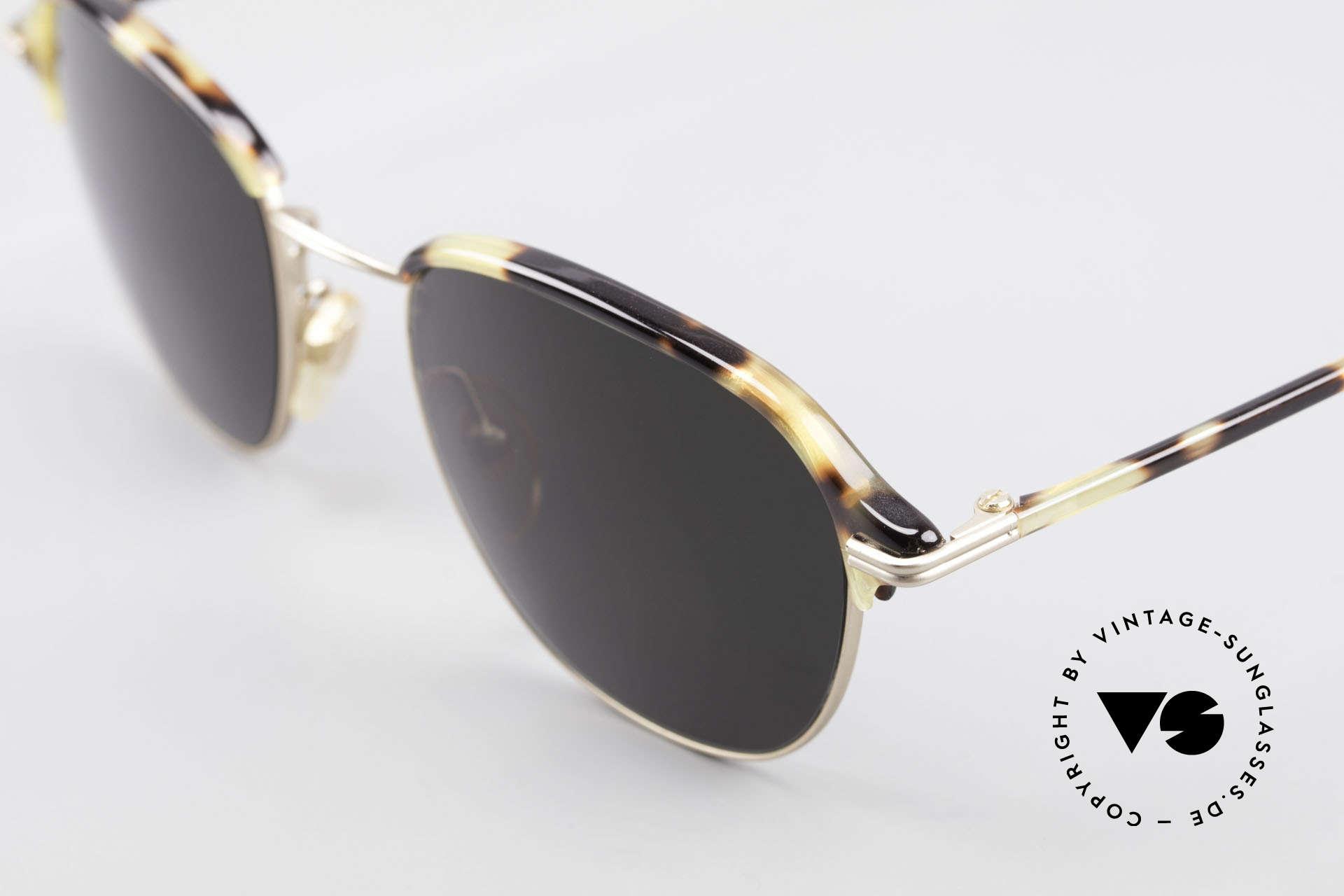 Cutler And Gross 0373 Designer Panto Sonnenbrille, schlicht, aber Materialien & Verarbeitung auf top-Niveau, Passend für Herren und Damen