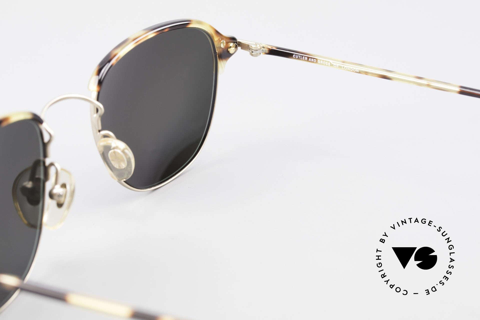 Cutler And Gross 0373 Designer Panto Sonnenbrille, KEINE Retrobrille, sondern ein 20 Jahre altes Original!, Passend für Herren und Damen
