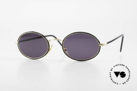 Cutler And Gross 0350 Ovale Vintage Sonnenbrille Details