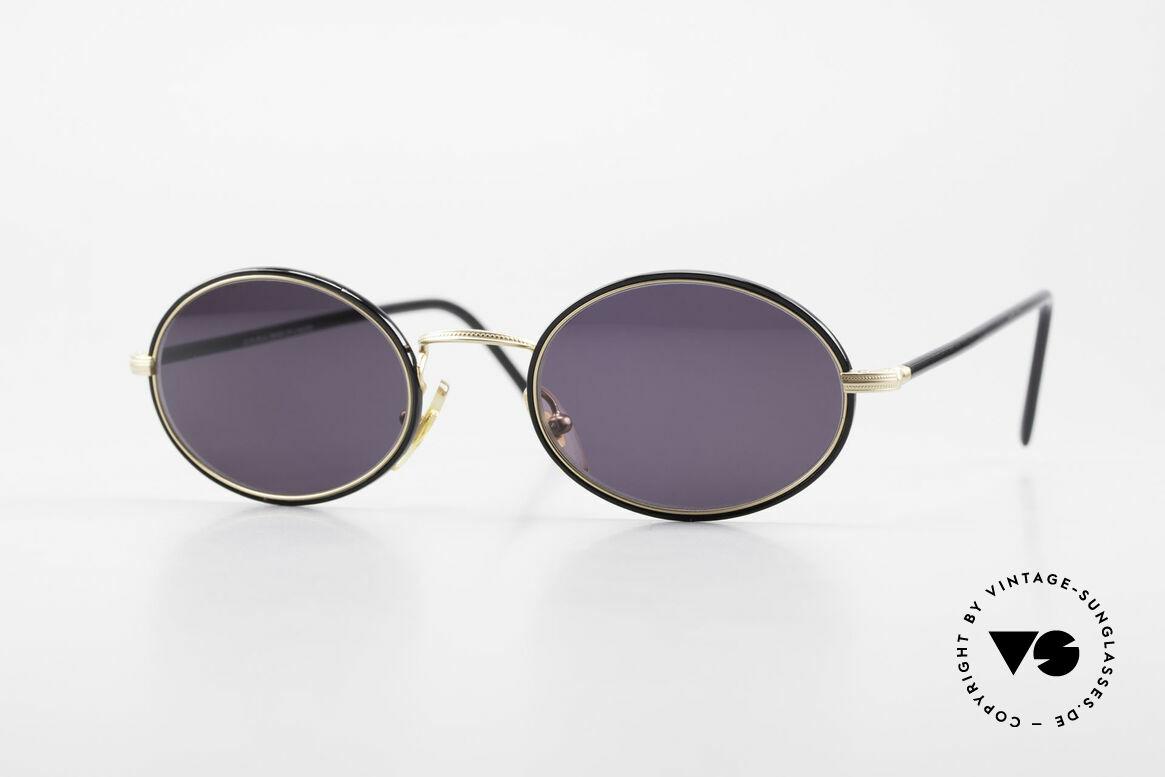 Cutler And Gross 0350 Ovale Vintage Sonnenbrille, Cutler & Gross London Designerbrille der späten 90er, Passend für Herren und Damen