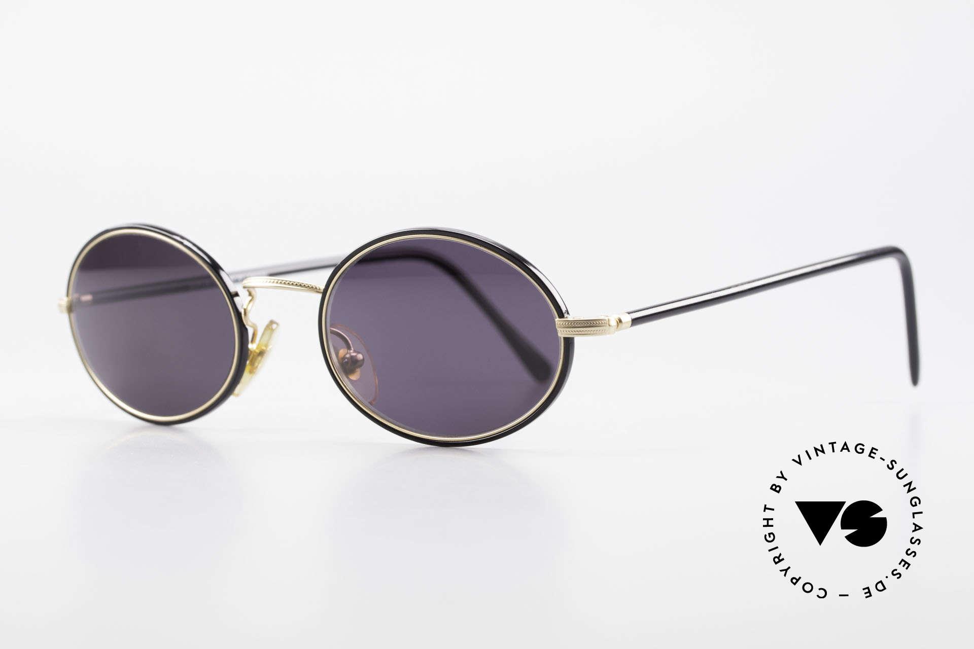 Cutler And Gross 0350 Ovale Vintage Sonnenbrille, stilvoll & unverwechselbar; auch ohne pompöse Logos, Passend für Herren und Damen