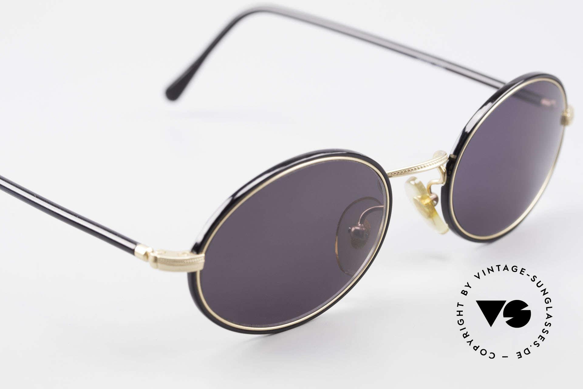 Cutler And Gross 0350 Ovale Vintage Sonnenbrille, ungetragen; Modell ist auch beliebig optisch verglasbar, Passend für Herren und Damen