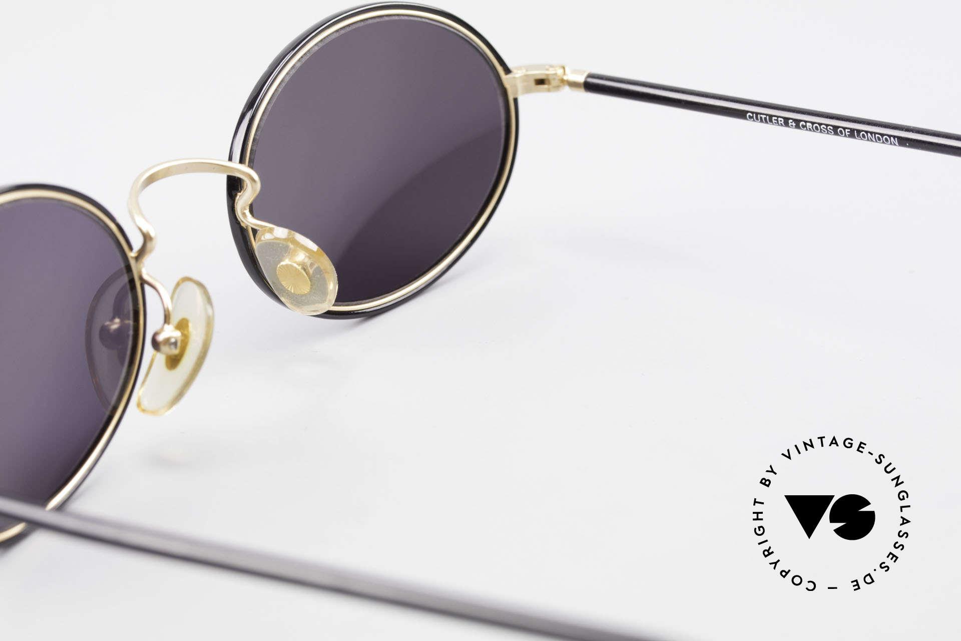 Cutler And Gross 0350 Ovale Vintage Sonnenbrille, KEINE Retrobrille, sondern ein 20 Jahre altes Original!, Passend für Herren und Damen