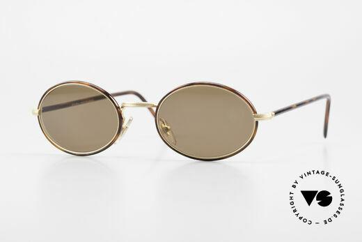 Cutler And Gross 0350 Vintage Sonnenbrille Oval 90er Details