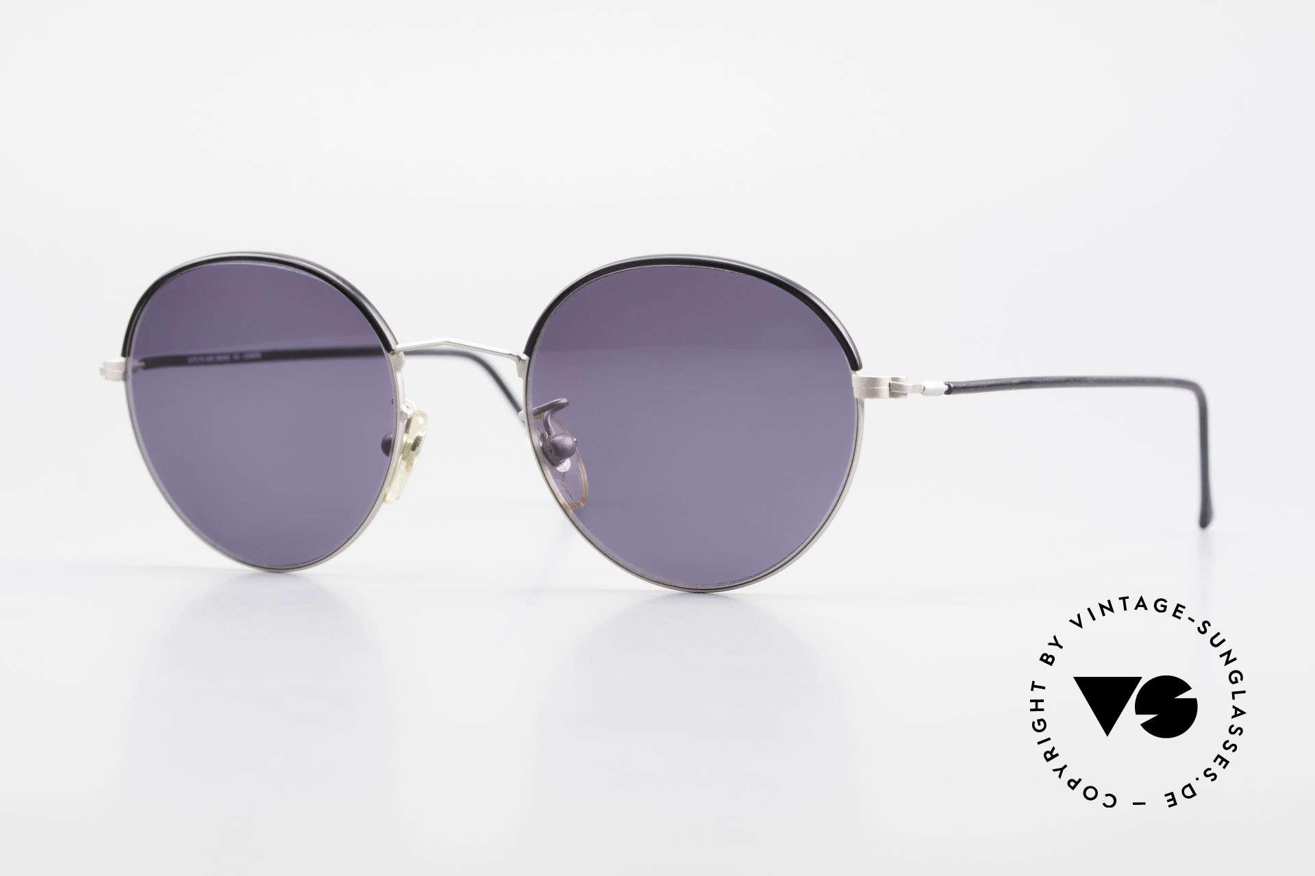 Cutler And Gross 0391 Runde Designer Pantobrille, Cutler & Gross London Designerbrille der späten 90er, Passend für Herren und Damen