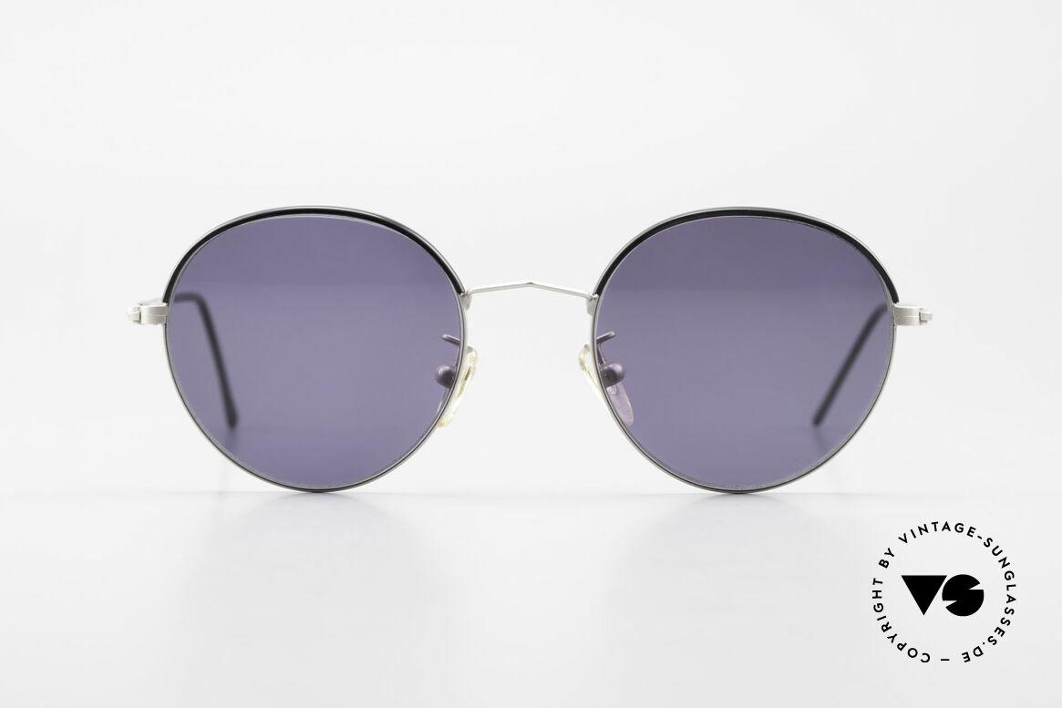 Cutler And Gross 0391 Runde Designer Pantobrille, klassisch, zeitlose Understatement Luxus-Sonnenbrille, Passend für Herren und Damen