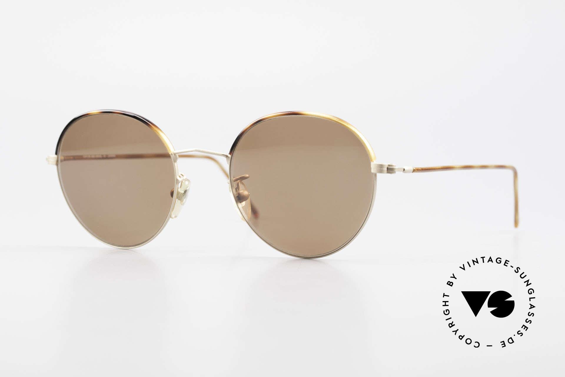 Cutler And Gross 0391 Runde Brille Windsorringe, Cutler & Gross London Designerbrille der späten 90er, Passend für Herren und Damen