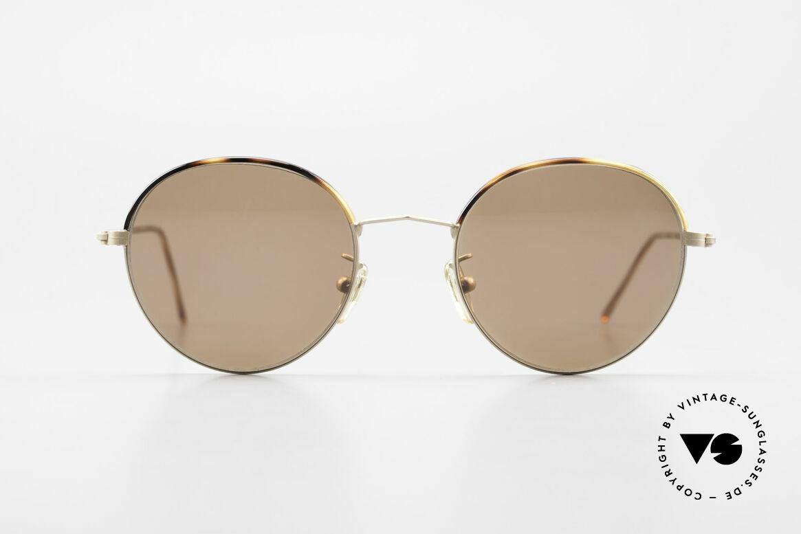 Cutler And Gross 0391 Runde Brille Windsorringe, klassisch, zeitlose Understatement Luxus-Sonnenbrille, Passend für Herren und Damen