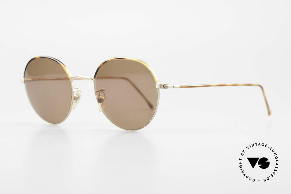 Cutler And Gross 0391 Runde Brille Windsorringe, stilvoll & unverwechselbar; auch ohne pompöse Logos, Passend für Herren und Damen