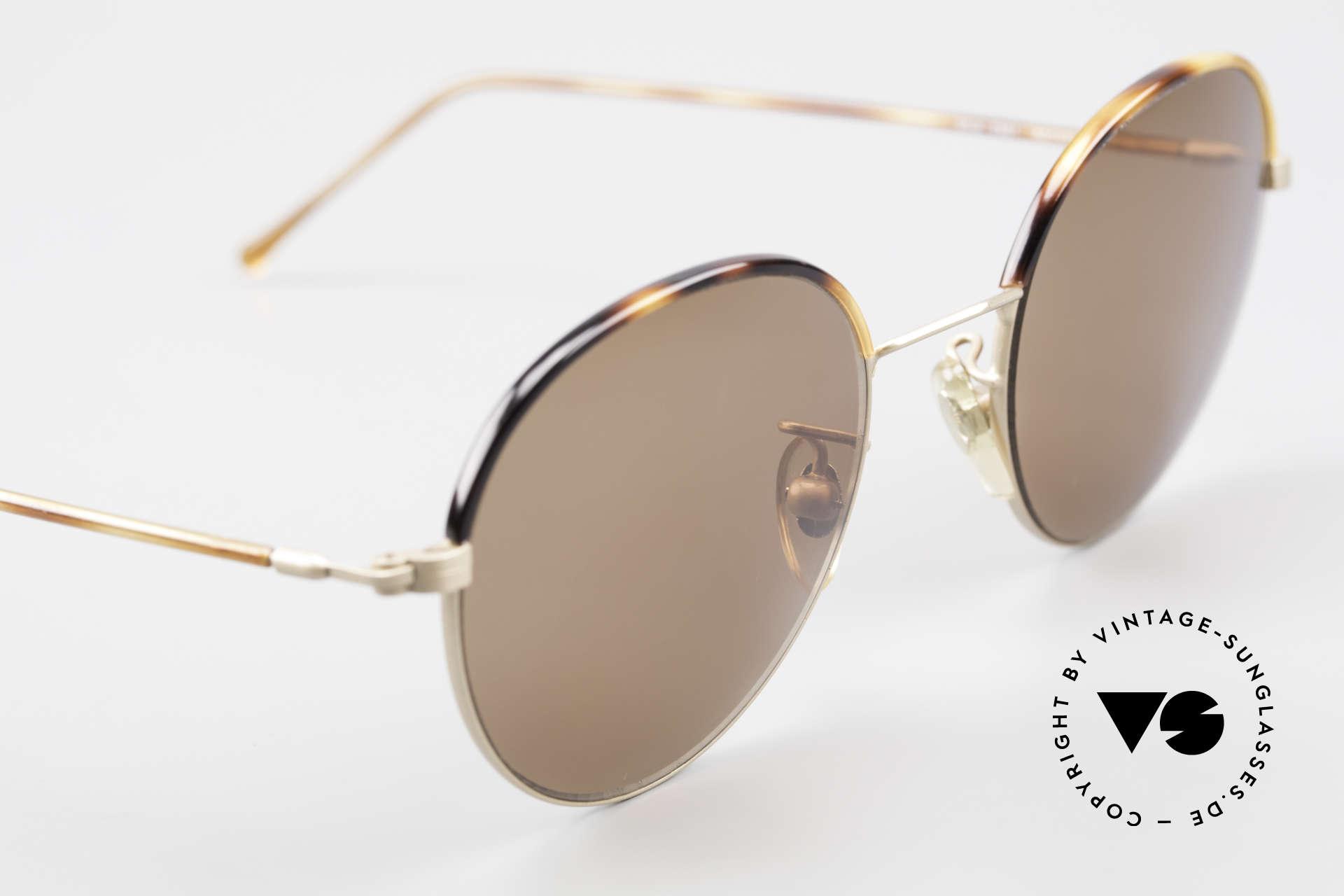 Cutler And Gross 0391 Runde Brille Windsorringe, ungetragen; Modell ist auch beliebig optisch verglasbar, Passend für Herren und Damen