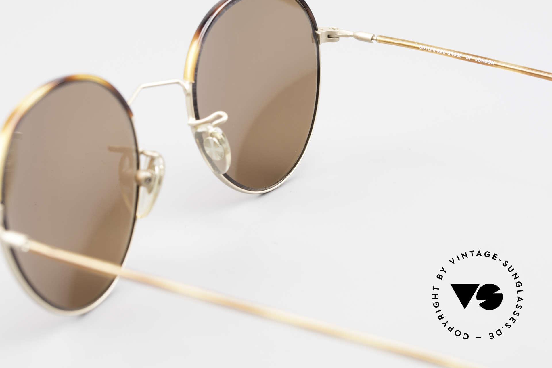Cutler And Gross 0391 Runde Brille Windsorringe, Größe: medium, Passend für Herren und Damen